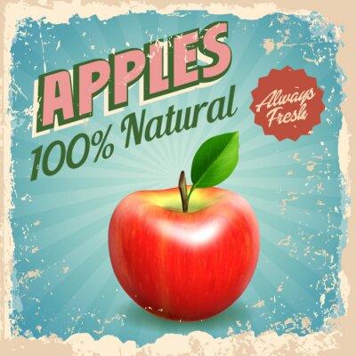 Plakát jablka vinobraní