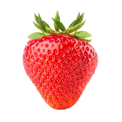 Plakát jahody izolovaných na bílém pozadí