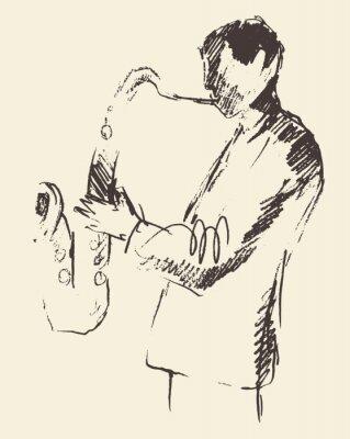 Plakát Jazz plakát saxofon hudba akustický consept