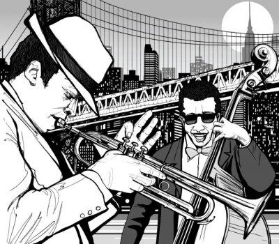 Plakát jazz v New Yorku