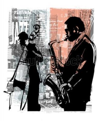 Plakát Jazz v New Yorku - vektorové ilustrace