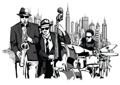 Plakát Jazzová kapela v New Yorku