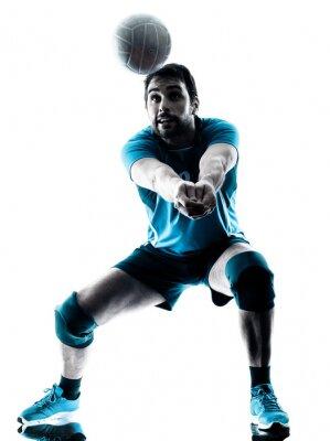 Plakát jeden volejbalové silueta