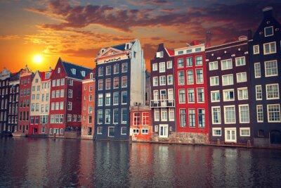 Plakát jeden z nejznámějších evropského města Amsterdamu. Základní kapitál o