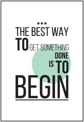 Plakát Jednoduchá motivační plakát na bílém pozadí