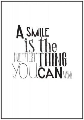 Plakát Jednoduché černé a bílé plakát s motivační fráze
