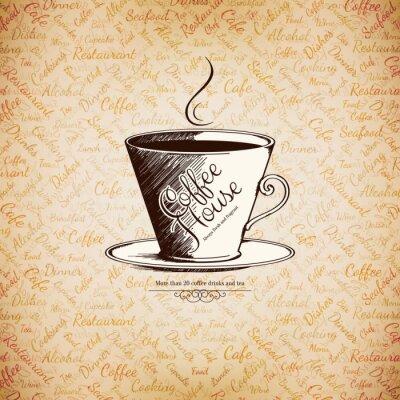 Plakát Jídelní lístek pro restaurace, kavárna, bar, kavárnu