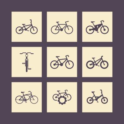 Plakát jízdních kol, jízda na kole, kolo, elektrické kolo, tuk-bike náměstí ikony