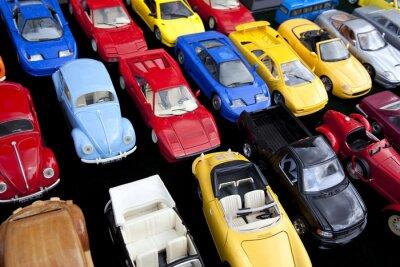 Plakát Jouet, voiture, miniaturní, jeu, plastique, retro, vinobraní