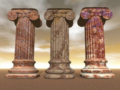 Plakát Kamenné sloupy - 3D vykreslování