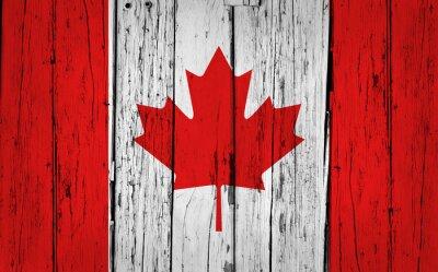 Plakát Kanada vlajka Grunge pozadí