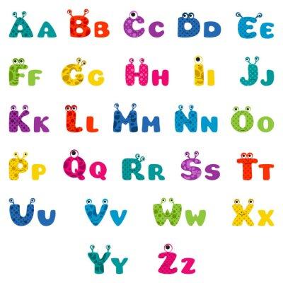 Plakát karikatura monstrum abeceda