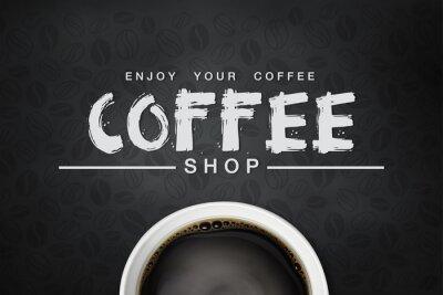 Plakát káva backgrond