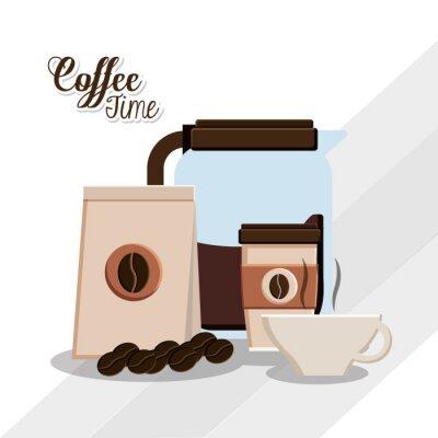 Plakát Káva čas konstrukce