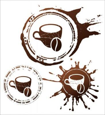 Plakát Káva designové prvky. vektorové ilustrace