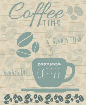 Plakát káva Icon