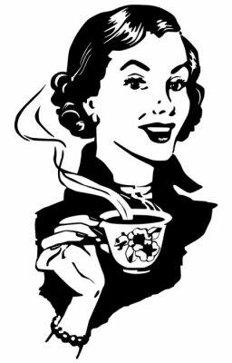 Plakát Káva Lady