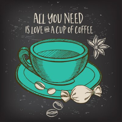 Plakát Káva Menu restaurace kavárna, šablony designu.