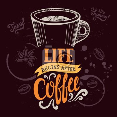 Plakát Káva plakát pro restaurace a kavárny.