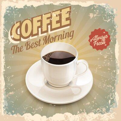 Plakát káva retro