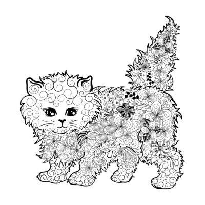 Plakát Kitten  doodle