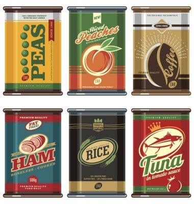 Plakát Klasické potravinových konzerv