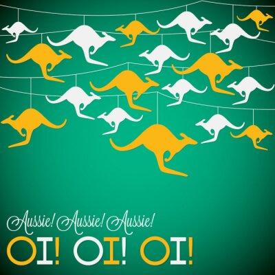Plakát Klokan ornament Den Austrálie karty ve vektorovém formátu.