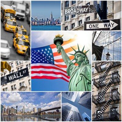 Plakát Koláž Carré New York - USA