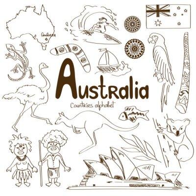 Plakát Kolekce Austrálie ikon