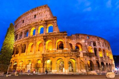Plakát Koloseum za soumraku, Řím, Itálie