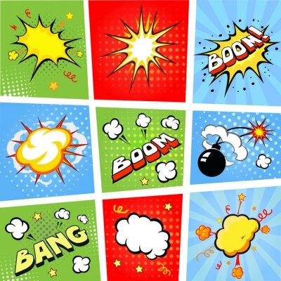 Plakát Komiksové bubliny a komiks pozadí, ilustrace