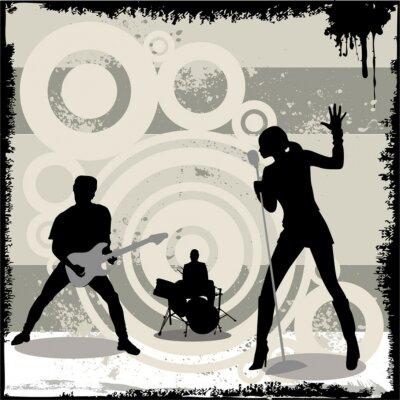 Plakát Koncert grunge vektor