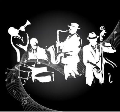 Plakát Koncert Jazz černé pozadí