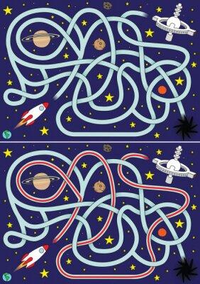 Plakát Kosmická raketa bludiště