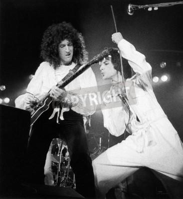 Plakát Královna koncert - den na dostizích v 1976