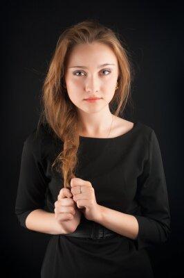 Plakát Krásná brunetka mladá žena