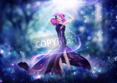 Plakát Krásná fantasy víla žena, Móda Umění portrét
