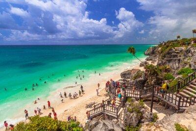 Plakát Krásná pláž Tulum v Mexiku