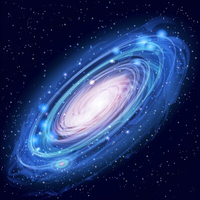 Plakát Krásné Glowing Vector Galaxie v Andromedě