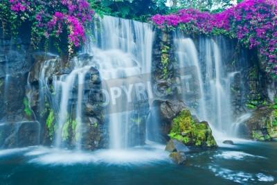 Plakát Krásné modré vodopád na Havaji
