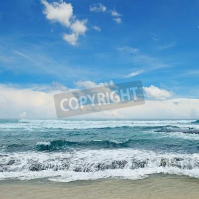 Plakát krásné vlny v moři