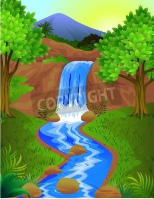 Plakát Krásný vodopád
