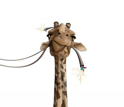 Plakát kreslení žirafa