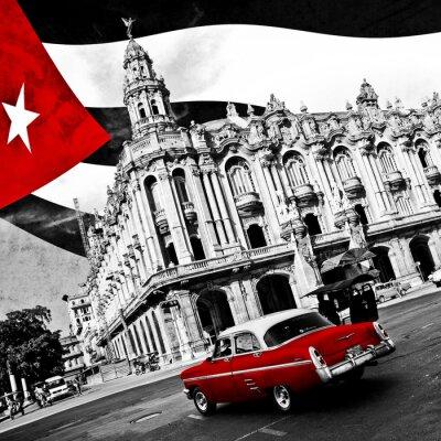 Plakát Kuba (n & b)