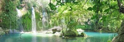 Plakát Kursunlu Vodopád panorama v národním parku turecko