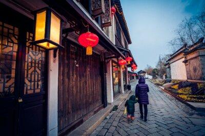 Plakát Kvádr alej v Zhouzhuang, Čína