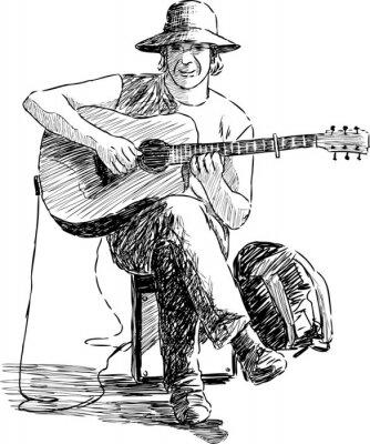 Plakát kytarista