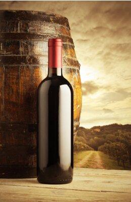 Plakát Láhev červeného vína