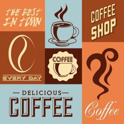 Plakát lahodné kávy designu