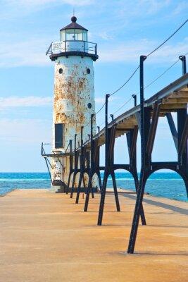 Plakát Lake Michigan Lighthouse